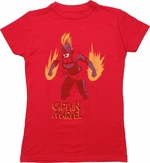 Captain Marvel Energy Burst Juniors T-Shirt