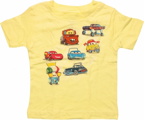 Cars Characters Across Yellow Infant T-Shirt
