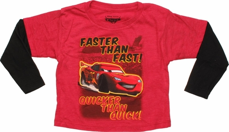 Cars Faster than Fast Long Sleeve Toddler T-Shirt