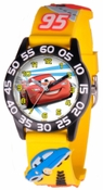 Cars Kids 3D Plastic Yellow Black Watch