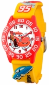 Cars Kids 3D Plastic Yellow Red Watch