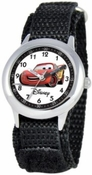 Cars Kids Time Teacher Black Silver Watch