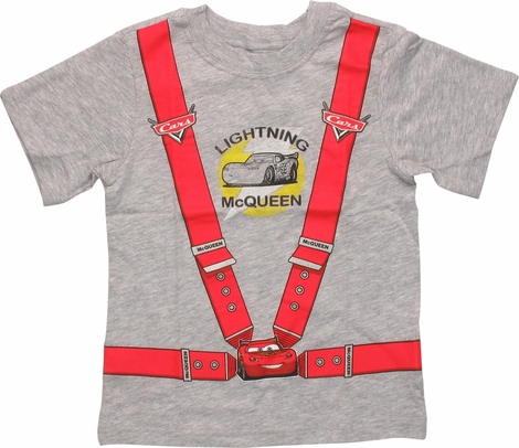 Cars Lightning McQueen Harness Toddler T-Shirt