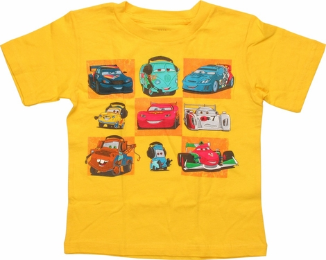 Cars Nine Cars Checkerboard Toddler T-Shirt
