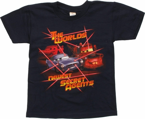 Cars Worlds Newest Secret Agents Youth T-Shirt