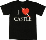 Castle I Love T Shirt