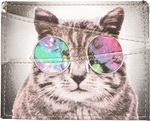 Cat Space Specs ID Card Wallet