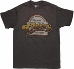 Cheers 1982 Sign T Shirt Sheer