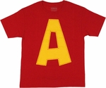 Chipmunks Alvin Logo Youth T Shirt