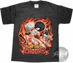 Chop Socky Chooks Flames Youth T-Shirt