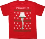 Christmas Story Fragile Leg Lamp T Shirt