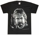 Chuck Norris Face T-Shirt Sheer