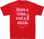 Coca-Cola Have Coke Smile T Shirt