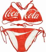 Coca-Cola Triangle String Bikini Swimsuit