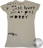 Coldplay Worry Music Baby Tee