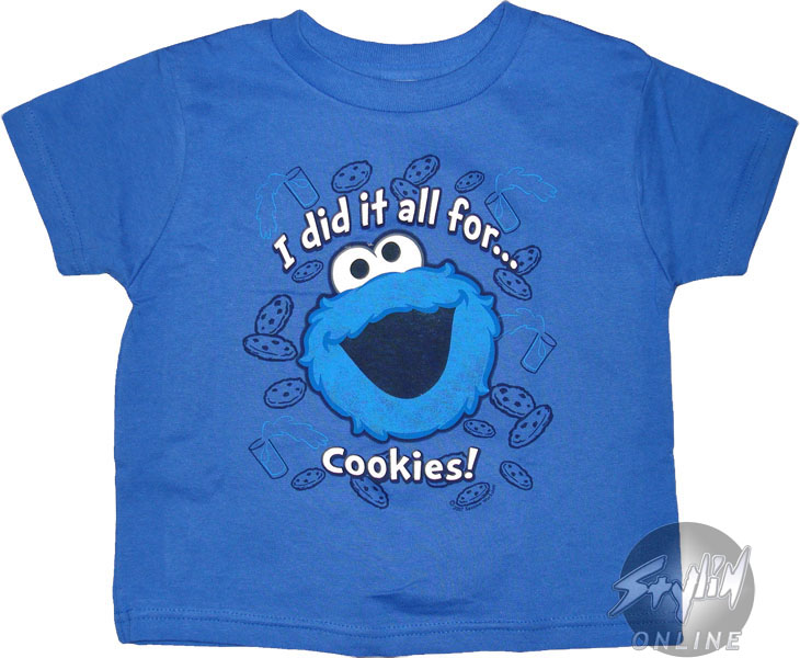 Sesame Street Clothing. Clothing. Sesame Street Clothing. Showing 48 of results that match your query. Youth: Sesame Street-Cookie Monster Face Apparel Kids T-Shirt - Blue. Product - Toddler: Sesame Street- Elmo Studmuffin Apparel Baby T-Shirt - Red. Product Image. Price $