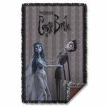 Corpse Bride Bride and Groom Throw Blanket