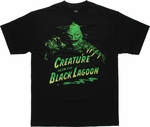 Creature from the Black Lagoon Above Name T-Shirt