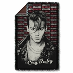 Cry Baby Drapes & Squares Throw Blanket
