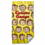 Curious George Heads Towel