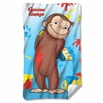 Curious George Paint Fleece Blanket