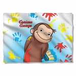 Curious George Paint Pillow Case