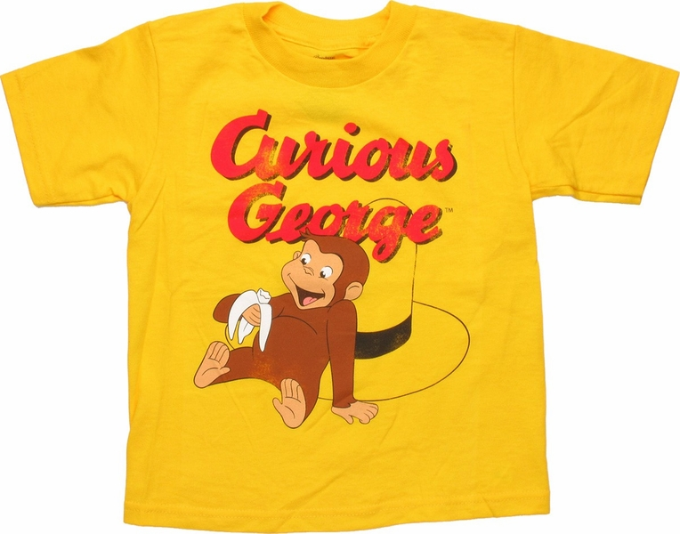 Curious George Sit Hat Toddler T Shirt
