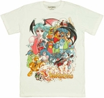 Darkstalkers Group T-Shirt Sheer