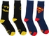 DC Comics Batman Superman Logo Crew 2 Pair Socks Set