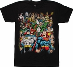DC Comics Group T Shirt Sheer