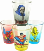 DC Comics Hero Tint Shot Glass Set