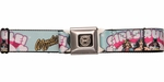 DC Comics Women Girl Power Seatbelt Belt