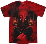 Deadpool Arms Crossed Tie Dye T Shirt