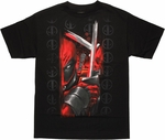 Deadpool Close Swords T Shirt