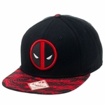 Deadpool Logo Animal Stripe Visor Hat