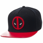 Deadpool Logo Textured Visor Hat