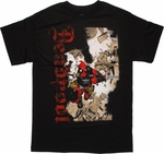 Deadpool Rising Slash T Shirt