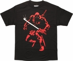 Deadpool Shadow Foil Katana T-Shirt