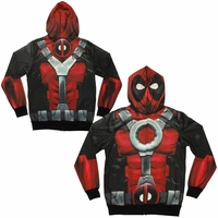 Deadpool Sublimated Costume Hoodie