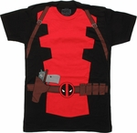 Deadpool Suit T Shirt Sheer