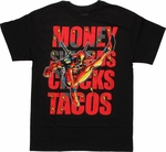Deadpool Swords Tacos T Shirt