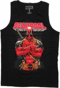 Deadpool Under Name Tank Top
