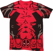 Deadpool Uniform Belt Print T-Shirt