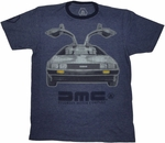 DeLorean Gull Wing T Shirt Sheer