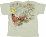 Dennis the Menace Wagon Toddler T Shirt