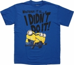 Despicable Me Minions I Didn't Do It Youth T-Shirt