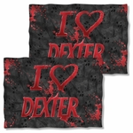 Dexter I Heart Dexter FB Pillow Case