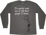 Diary of a Wimpy Kid Best Gray Long Sleeve Youth T Shirt
