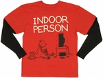 Diary of a Wimpy Kid Indoor Red Black Long Sleeve Youth T Shirt