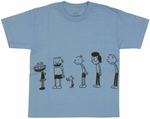 Diary of a Wimpy Kid Line Youth T Shirt